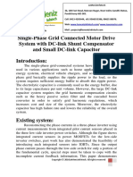 Single-Phase Grid Connected Motor Drive System With DC-link Shunt Compensator and Small DC-link Capacitor