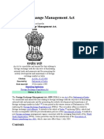 Foreign Exchange Management Act