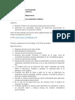 Especificaciones Proyecto de Clase Primera Entrega Estequiometria y Parámetros Cinéticos_LJLG