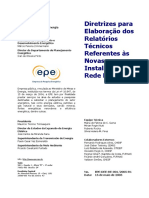 NT - Diretrizes Para Elaboração Dos Relatórios Técnicos Referentes Às Novas Instalações Da Rede Básica