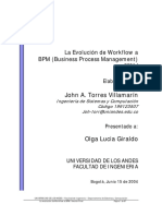 La Evolucion de Workflow a BPM