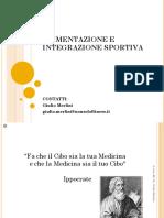 Alimentazione e integrazione sportiva Giulio merlini