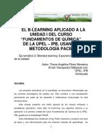 2 18 PEREZ Triana El B-learning Aplicado a La Unidad 1 Del Curso Fundamentos de Quimica de La UPEL-IPB Usando La Metodologia PACIE
