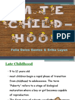 Late Childhood 2