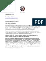 Peace Corps TG 540 FOIA Response Letter