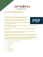 Education Commissions in Kenya