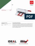 Ficha Tecnica Guillotina Ideal 3005