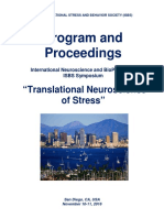 "Program and Proceedings - International Neuroscience and Biological Psychiatry ISBS Symposium ""TRANSLATIONAL NEUROSCIENCE OF STRESS"", Nov 10-11, 2016, San Diego, CA, USA"