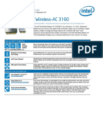 Intel® Dual Band Wireless-AC 3160- Product Brief