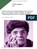"""Marilena Chaui_ Como Surgiu a """"Mulher Freudiana""""_ – Blog Da Boitempo"""