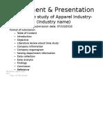 Assignment & Presentation butex