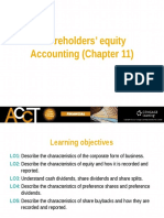 Lecture 5 - Shareholder's Equity Accounting