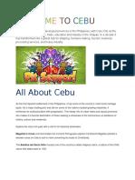 Welcome to Cebu