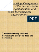 Shift in Marketing Management as a result of.ppt