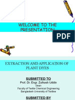 EXTRACTION AND APPLICATION OF PLANT DYES.ppt