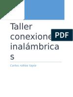 Taller Conexiones Inalámbricas
