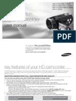 Samsung Camcorder HMX-H104 User Manual