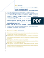 Reporteros y Periodistas Nacionales e internacionales (mexico)