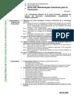 Ficha objetivos y competencias en metodologías inductivas para la formación