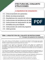 Tema 3 - Arquitectura Del Conjundo de Instrucciones