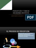 Percepción y Toma de Decisiones Individual