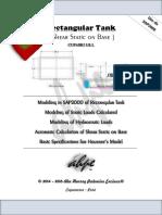 Cortante Estático en La Base - Tanque Rectangular - ACI 350 y Otros