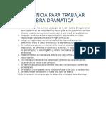 Secuencia Para Trabajar Obra Dramática (Parcial Didáctica)