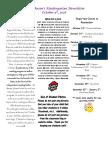 fifth week newsletter