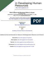 Valori Ale Muncii Si Etica in Afaceri