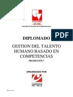 Diplomado en Gestion Del Talento Humano Basado en Competencias 2014