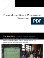 Oral Tradition(2)