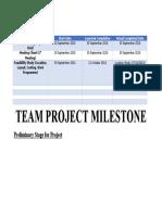 Team Project Milestone