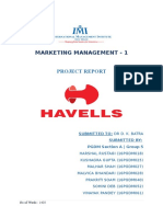 Havells Fans Marketing Report