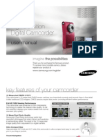 Samsung Camcorder U10 User Manual
