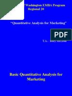 Quantitative Analysis for Marketing