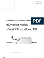 Installation and Operations Manual eIQ vBoost Models vBoost 250 and vBoost 350