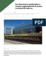 El Sueldo de Los Directores Nombrados a Dedo en Los Museos Regionales de La Junta Supone Casi La Mitad de Todo Su Presupuesto