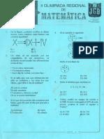 II OlimpiadaRegional de Matematica uniciencia3roS-1