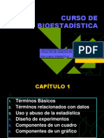 Curso de Bioestadística - Prof. Fossati