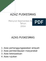 AZAS PUSKESMAS