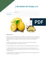 Beneficios y Bondades Del Vinagre y El Limon