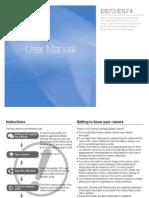 Samsung Camera ES73(SL605) User Manual