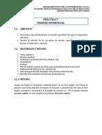 Practica 5. Lab Fluidos - Tensión Superficial