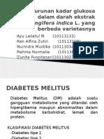 Efek Penurunan Kadar Glukosa Dalam Darah Ekstrak Mangifera