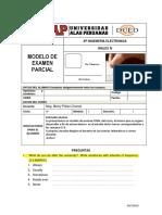 Modelo de Examen Parcial Ingles
