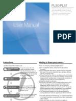 Samsung Camera PL80(SL630) User Manual
