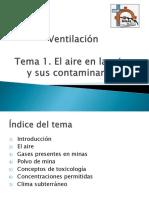 Tema 1 El Aire en La Mina y Sus Contaminantes