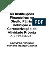 Leonardo Henrique M. M. Oliveira - As Instituições Financeiras no Direito Pátrio_Defini.pdf