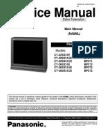 Panasonic Ct-32,36sx31 Ch Bp371,Bp372 Sm