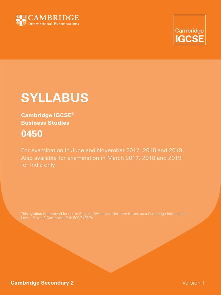 2017 Syllabus Igcse Business Studies Income Statement